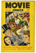 """Golden Age (1938-1955):Adventure, Movie Comics #2 (Fiction House, 1947) Condition: VF. Mitzi of the Movies by Matt Baker begins. """"White Tie and Tails"""" with Wi..."""
