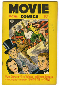 "Movie Comics #2 (Fiction House, 1947) Condition: VF. Mitzi of the Movies by Matt Baker begins. ""White Tie and Tails..."