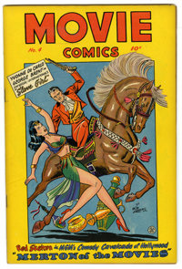 Movie Comics #4 (Fiction House, 1947) Condition: VF. Mitzi in Hollywood by Matt Baker. Merton of the Movies with Red Ske...
