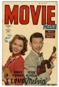 Golden Age (1938-1955):Miscellaneous, Movie Love #20 (Famous Funnies, 1953) Condition: FN. Donald O'Connor and Debbie Reynolds photo cover. Overstreet 2005 FN 6.0...