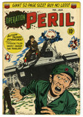 Golden Age (1938-1955):Horror, Operation Peril #3 (ACG, 1951). Ogden Whitney war cover and art.Horror story. Overstreet 2005 VF 8.0 value = $118....