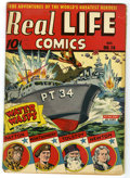 Golden Age (1938-1955):Non-Fiction, Real Life Comics #14 (Nedor Publications, 1943) Condition: GD/VG.Brittle pages. Overstreet 2005 GD 2.0 value = $15; VG 4.0 ...
