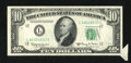 Error Notes:Attached Tabs, Fr. 2015-L $10 1950E Federal Reserve Note. Very Fine.. ...