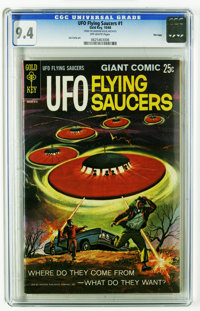 UFO Flying Saucers #1 File Copy (Gold Key, 1968) CGC NM 9.4 Off-white pages. Joe Certa art. Overstreet 2005 NM- 9.2 valu...