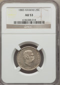 Coins of Hawaii: , 1883 25C Hawaii Quarter AU53 NGC. NGC Census: (27/1091). PCGS Population (60/1462). Mintage: 500,000. ...