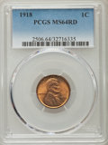 1918 1C MS64 Red PCGS. PCGS Population (300/412). NGC Census: (78/70). Mintage: 288,104,640. Numismedia Wsl. Price for p...