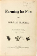 """Books:Literature Pre-1900, [Humor]. [George G. Small]. [Thomas Worth, illustrator]. Collection of Seven Titles by """"Bricktop"""" Bound Together in On..."""
