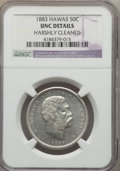 Coins of Hawaii, 1883 50C Hawaii Half Dollar -- Harshly Cleaned -- NGC Details. Unc.NGC Census: (1/175). PCGS Population (5/244). Mintage: ...
