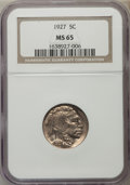 1927 5C MS65 NGC. NGC Census: (321/105). PCGS Population (722/324). Mintage: 37,981,000. Numismedia Wsl. Price for probl...