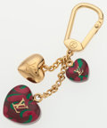 "Luxury Accessories:Accessories, Louis Vuitton Multicolor Heart Gold Keychain . ExcellentCondition. 1"" Width x 4"" Length. ..."