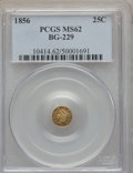California Fractional Gold: , 1856 25C Liberty Round 25 Cents, BG-229, R.4, MS62 PCGS. PCGSPopulation (44/46). NGC Census: (6/5). ...