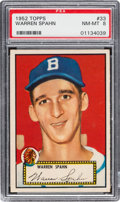 Baseball Cards:Singles (1950-1959), 1952 Topps Warren Spahn #33 PSA NM-MT 8....