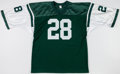 Football Collectibles:Uniforms, Curtis Martin Signed New York Jets Jersey....