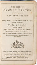 Books:Religion & Theology, [Religion & Theology]. The Book of Common Prayer and Administration of the Sacraments... Printed by Eyre and Spo...