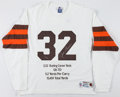 Football Collectibles:Uniforms, Jim Brown Signed Cleveland Browns UDA Jersey....