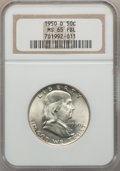 Franklin Half Dollars: , 1950-D 50C MS65 Full Bell Lines NGC. NGC Census: (253/13). PCGS Population: (934/118). CDN: $175 Whsle. Bid for NGC/PCGS MS...