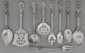 Silver Flatware, American:Reed & Barton, A Set of Nine Reed and Barton Francis I Pattern SilverFlatware Serving Pieces, Taunton, Massachusetts, designed...(Total: 9 )