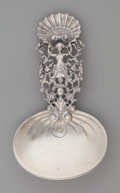 Silver Flatware, American:Gorham, A Gorham Silver Reticulated Figural Bon Bon Spoon, Providence,Rhode Island, circa 1892. Marks: (lion-anchor-G),STERLING,...