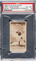 Baseball Cards:Singles (Pre-1930), 1887 N172 Old Judge John Ward (#478-9) PSA EX-MT 6. ...