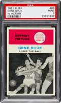 Basketball Cards:Singles (Pre-1970), 1961 Fleer Gene Shue In Action #64 PSA Mint 9....