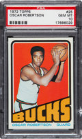Basketball Cards:Singles (1970-1979), 1972 Topps Oscar Robertson #25 PSA Gem Mint 10 - One of Five Finest Known. ...
