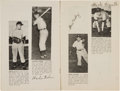 Baseball Collectibles:Others, 1949 Independence (KS) Yankees Team Signed Program with MickeyMantle....