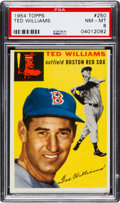 Baseball Cards:Singles (1950-1959), 1954 Topps Ted Williams #250 PSA NM-MT 8....
