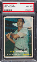 Baseball Cards:Singles (1950-1959), 1957 Topps Ted Williams #1 PSA NM-MT 8....