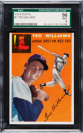 Baseball Cards:Singles (1950-1959), 1954 Topps Ted Williams #1 SGC 96 Mint 9 - The Ultimate SGCExample! ...