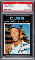 Baseball Cards:Singles (1970-Now), 1971 Topps Ernie Banks #525 PSA Mint 9 - Pop Four, One Higher....