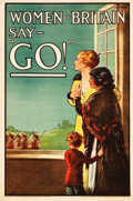 "Movie Posters:War, World War I Propaganda (Parliamentary Recruiting Committee, 1915).British Recruiting Poster No. 75 (19.75"" X 29.5"") ""Women ..."