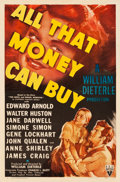 "Movie Posters:Drama, All That Money Can Buy (RKO, 1941). One Sheet (27"" X 41"") Style B....."