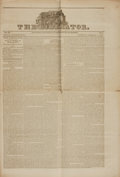Books:Periodicals, [Abolitionist Newspaper]. Single Issue of The Liberator.Vol. VII, No. 7. February 11, 1837. ...