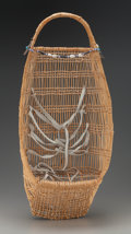 American Indian Art:Baskets, A Hupa Wicker Baby Carrier...