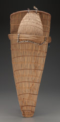 American Indian Art:Baskets, A Paiute Wicker Baby Carrier...