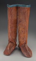 American Indian Art:War Shirts/Garments, A Pair of Labrador Eskimo Seal Skin Boots. ... (Total: 2 )