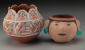 American Indian Art:Pottery, Two Jemez Polychrome Jars... (Total: 2 )