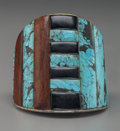 American Indian Art:Jewelry and Silverwork, A Large Ponca Cuff Bracelet . Small Bear . ...