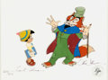 Animation Art:Limited Edition Cel, Pinocchio and Foulfellow Signed Limited Edition Cel #205/275 (WaltDisney, 1985)....
