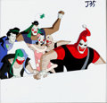 Animation Art:Production Cel, Batman Beyond The Jokerz Production Cel (Warner Brothers,1999)....