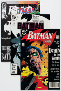 Batman Box Lot (DC, 1980-93) Condition: Average NM-