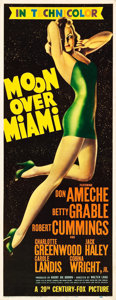 "Movie Posters:Musical, Moon Over Miami (20th Century Fox, 1941). Insert (14"" X 36"").. ..."