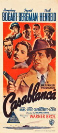 "Movie Posters:Academy Award Winners, Casablanca (Warner Brothers, 1942). Australian Daybill (13.5"" X 30.25"").. ..."