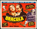 "Movie Posters:Horror, Dracula (Realart, R-1951). Title Lobby Card (11"" X 14"").. ..."
