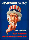 """Movie Posters:War, World War II Propaganda (U.S. Government Printing Office, 1943).OWI Poster No. 78 (28.5"""" X 40"""") """"I'm Counting on You."""". ..."""