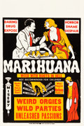 "Movie Posters:Exploitation, Marihuana (Roadshow Attractions, 1936). One Sheet (28"" X 42"").. ..."