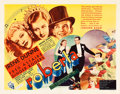 "Movie Posters:Musical, Roberta (RKO, 1935). Half Sheet (22"" X 28"") Yellow Style.. ..."