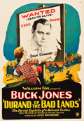 "Movie Posters:Western, Durand of the Bad Lands (Fox, 1925). One Sheet (28"" X 40.25"") ""Wanted"" Style.. ..."