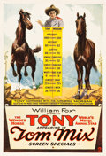 "Movie Posters:Western, Tom Mix and The Wonder Horse Tony (Fox, 1920s). Stock PromotionalOne Sheet (28.5"" X 41"").. ..."