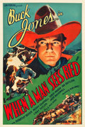 "Movie Posters:Western, When a Man Sees Red (Universal, 1934). One Sheet (27"" X 41"").. ..."